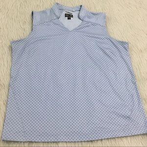 Adidas blue Athletic golf ⛳️ top
